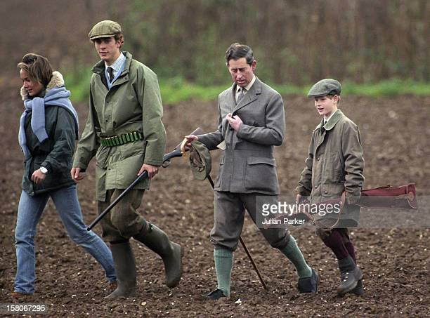 Prince Charles And Prince Harry On A Sandringham Shoot