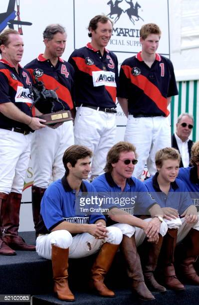 Prince Charles And Prince Harry Playing In A Polo Team Called Acclaim With Lord Charles Beresford And Martin Brown Against The Rotormotion Team Of...