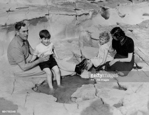 Prince Charles and Princess Anne had their first picnic ashore, with their Uncle and Aunt, Lord Louis and Lady Mountbatten, at Malta.