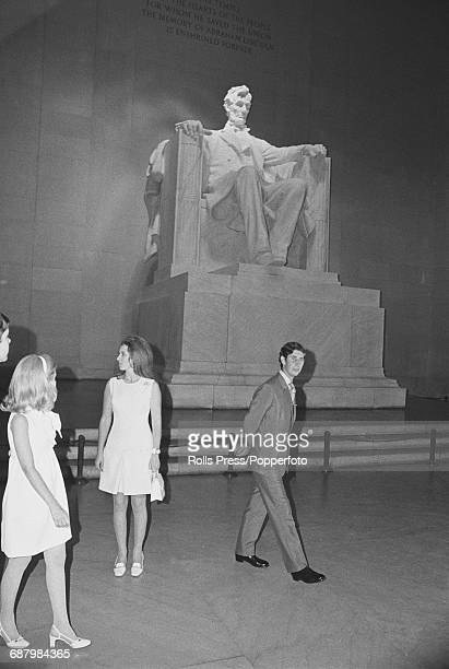 Prince Charles and Princess Anne visit the Lincoln Memorial on the National Mall in Washington DC during a visit to the United States capital city in...