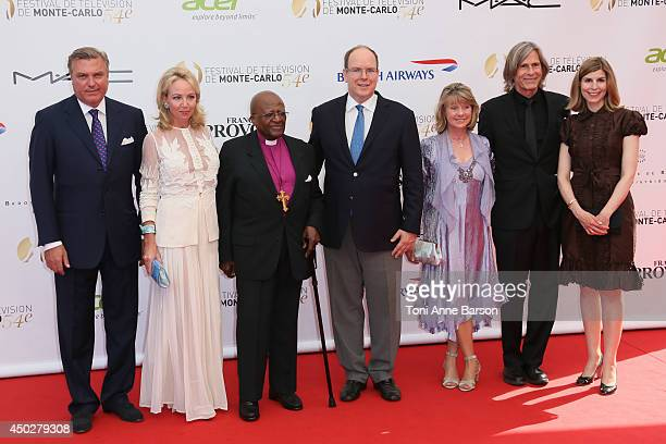 Prince Charles and Princess Camilla of Bourbon of the two Sicilies Desmond Tutu HSH Prince Albert II of Monaco Dawn Engle Ivan Suvanjieff and Claudia...