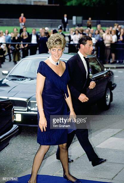 Prince Charles And Princess Diana Arriving At The Royal Albert Hall For A Concert