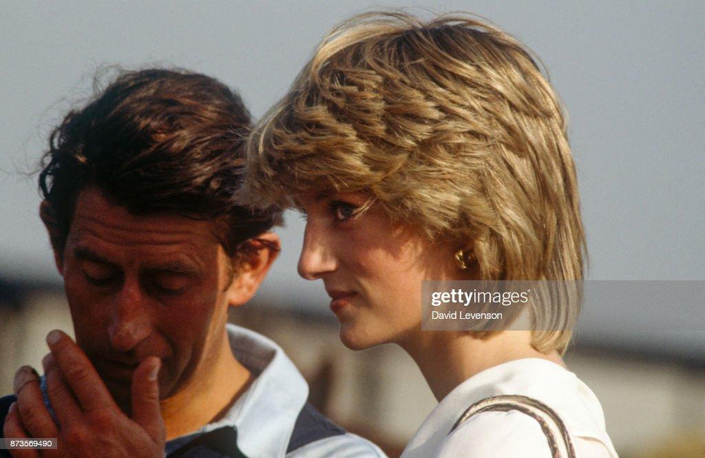 Prince Charles and Princess Diana at Cowdray Park : News Photo