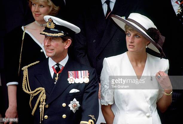 Prince Charles And Princess Diana At The Gulf Forces Parade Mansion House.