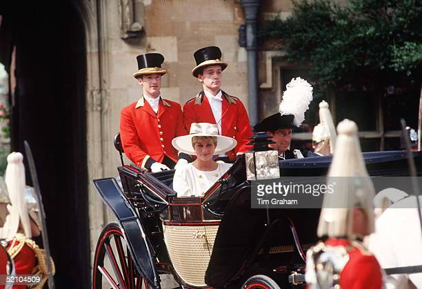 Prince Charles And Princess Diana At The Order Of The Garter Ceremony