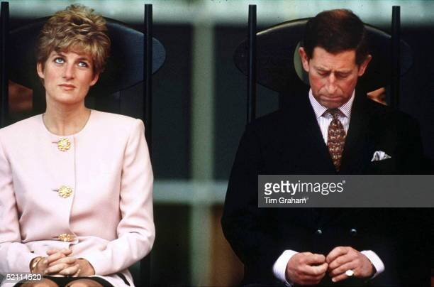 Prince Charles And Princess Diana During A Royal Tour In Toronto Canada