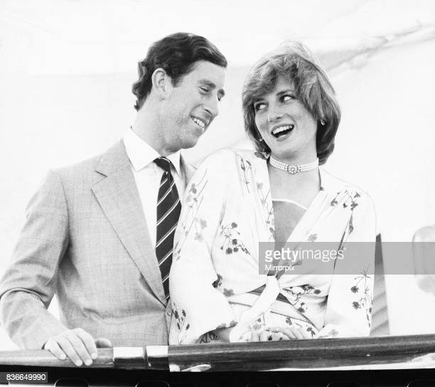 Prince Charles and Princess Diana on board the Royal yacht Britannia as they prepare to depart from Gibraltar on their honeymoon cruise. The Princess...