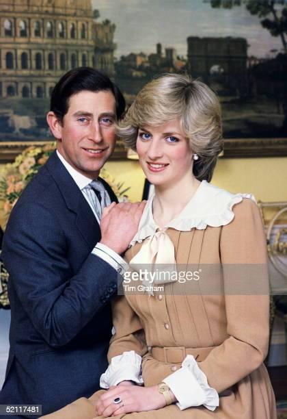 Prince Charles And Princess Diana Photographed At Home In Kensington Palace.