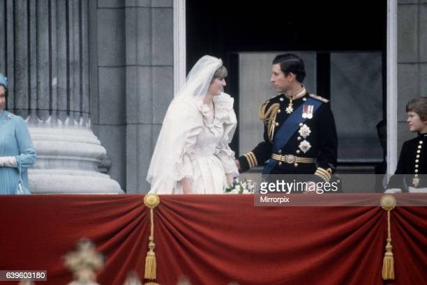 Prince Charles and Princess Diana stand on the balcony of Buckingham Palace after their wedding which was televised to 750 million viewers 29th July...