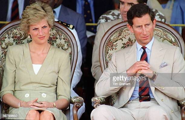 Prince Charles and Princess Diana The Prince and Princess of Wales during a visit to Bamenda in Cameroon