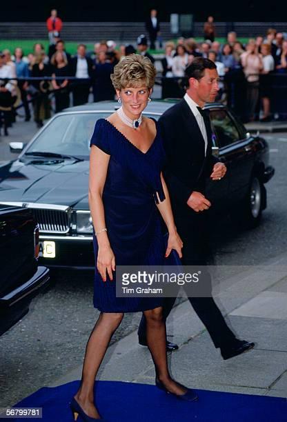 Prince Charles and Princess Diana The Prince and Princess of Wales at a concert at Royal Albert Hall London
