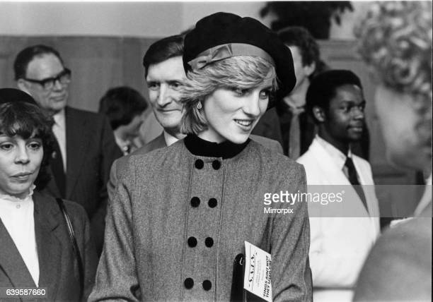 Prince Charles and Princess Diana visits The Anglican Cathedral in Liverpool Monday 20th December 1982 Before the service Princess Diana and Prince...