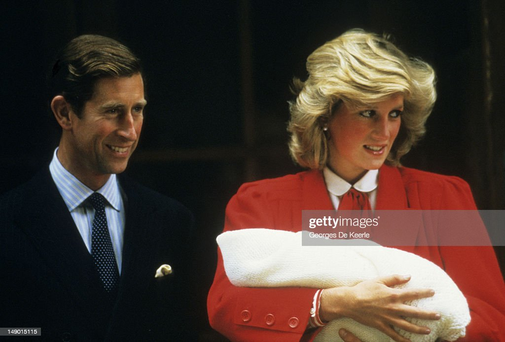 Charles Diana And Baby Harry : News Photo