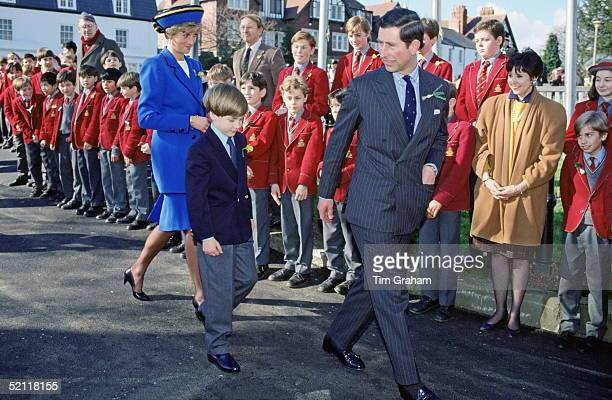 Prince Charles And Princess Diana With their Son Prince William In Wales For St David's Day Celebrations