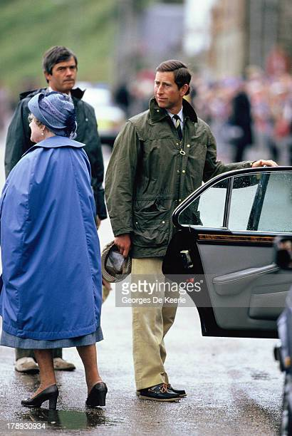 Prince Charles and Queen Elizabeth The Queen Mother arrive In Scrabster For The Annual Summer Holiday In Scotland on August 13 1986 in Scrabster...