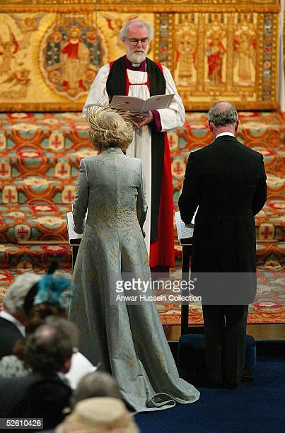 TRH Prince Charles and The Duchess Of Cornwall Camilla Parker Bowles is blessed by the Archbishop of Canterbury Dr Rowan Williams when they attend...