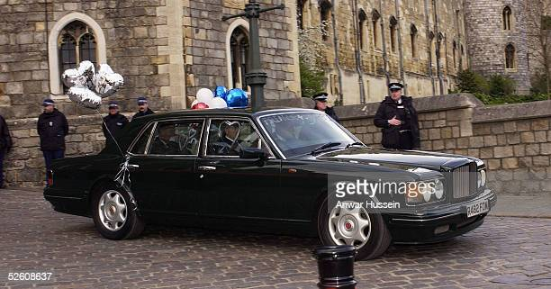 Prince Charles and The Duchess Of Cornwall Camilla Parker Bowles depart Windsor Castle through King Henry VIII Gate following the Service of Prayer...