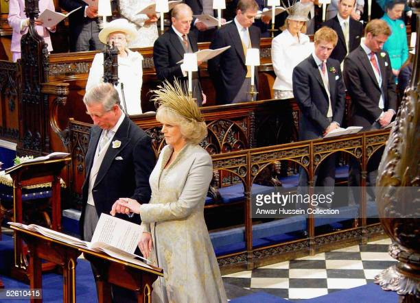 TRH Prince Charles and The Duchess Of Cornwall Camilla Parker Bowles attend the Service of Prayer and Dedication following their marriage at The...