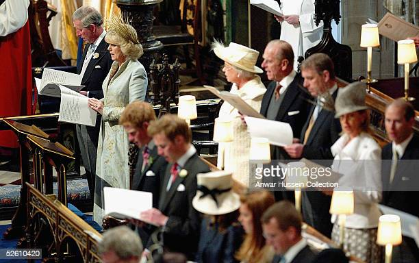 TRH Prince Charles and The Duchess Of Cornwall Camilla Parker Bowles with other members of the Royal Family attend the Service of Prayer and...
