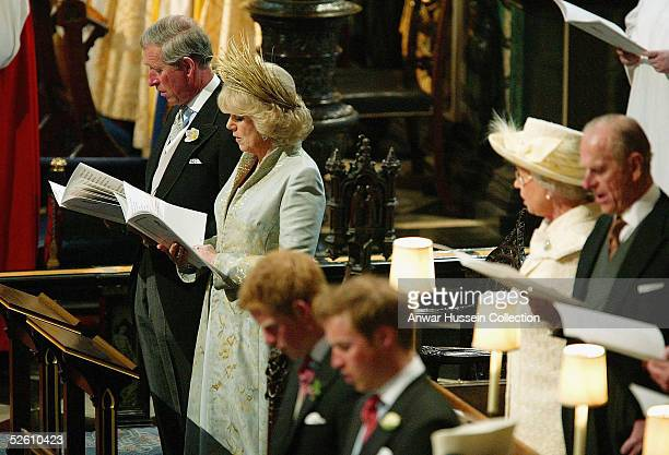 Prince Charles and The Duchess Of Cornwall, Camilla Parker Bowles with other members of the Royal Family, attend the Service of Prayer and Dedication...