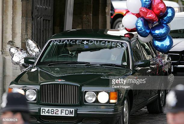 Prince Charles and the Duchess of Cornwall Camilla ParkerBowles leave depart through Henry the Eighth gate of Windsor Castle on their way to Scotland...