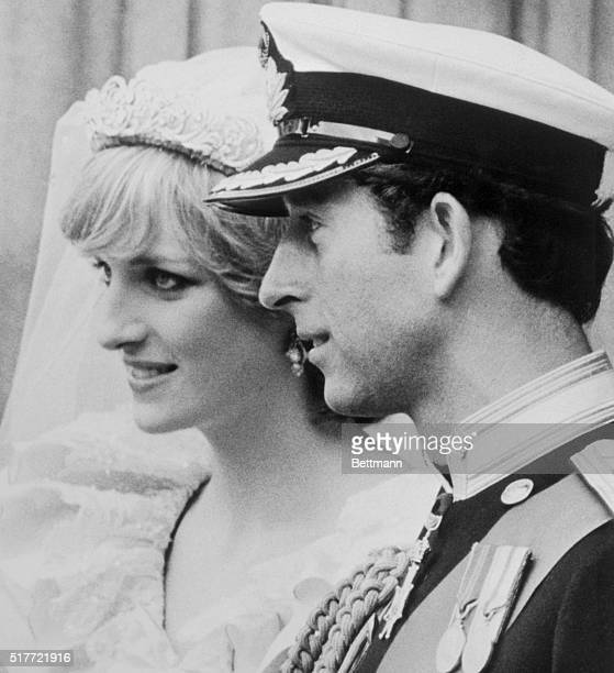 Prince Charles and the Princess of Wales on the steps of St Paul's Cathedral following their wedding