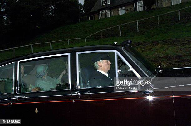 Prince Charles and the Queen Mother going to attend a requiem mass for Diana