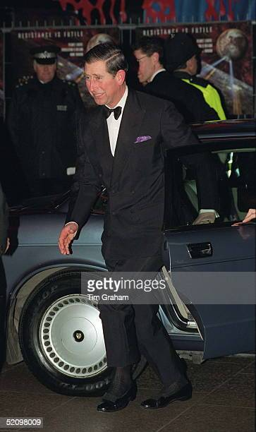 Prince Charles Arriving By Car For The Film Premiere Of 'star Trek First Contact' At The Empire Theatre In Leicester Square
