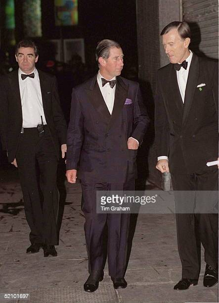 Prince Charles Arriving For 'the Royal Gala' At The Royal Festival Hall In London To Celebrate His Parents' Golden Wedding Anniversary Behind Is...