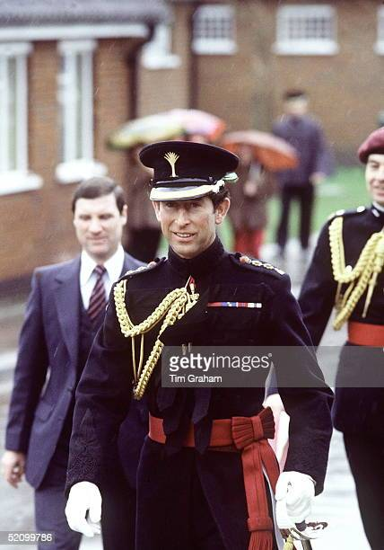 Prince Charles As Colonel Of The Welsh Guards Attending The St Davids Day Parade On 1st March At Queen Elizabeth Barracks Pirbright Surreyat Back...