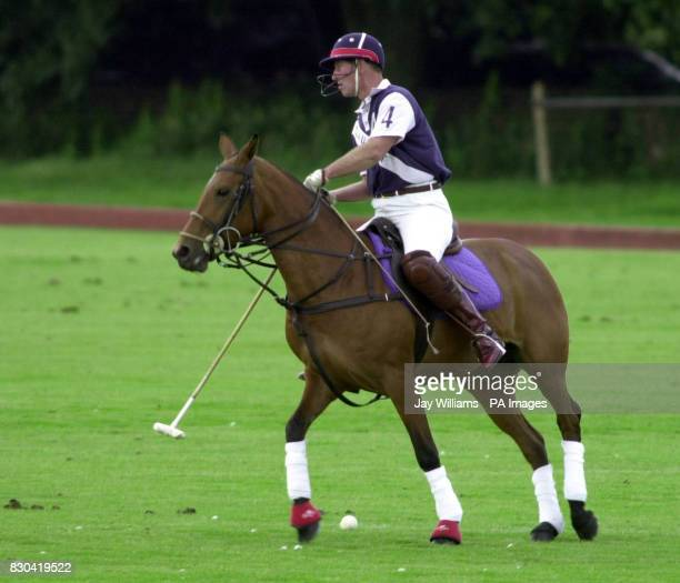 Prince Charles at a charity polo match at Beaufort Polo Club Gloustershire