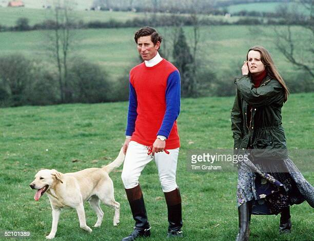 Prince Charles At A Quorn Hunt Cross Country Event At Upper Broughton In Nottinghamshire He Is With With Lady Jane Wellesleydaughter Of The Duke Of...