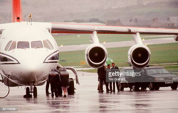 Prince Charles At Aberdeen Airport On His Way To Balmoral