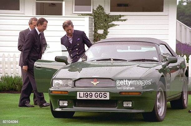 Prince Charles At Guards Polo Smith's Lawn Windsor Great Park After Ascot Leaving In His Aston Martin Volante Car A Gift From The Emir Of Bahrain