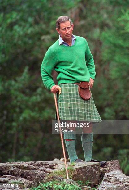 Prince Charles At Muick Falls Glen Muick On The Balmoral Castle Estate