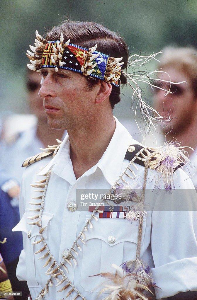 Charles Headdress Papua : News Photo