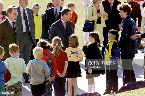 Prince Charles At The Falkland Islands Community School Port Stanley