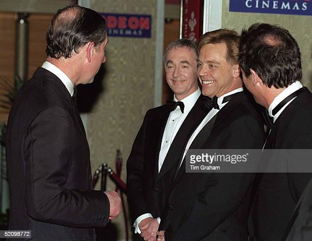Prince Charles At The London Film Premiere Of 'star Wars' Talking With Actor Mark Hamill Who Played Luke Skywalker In The Movie