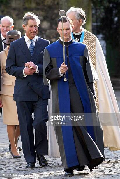 Prince Charles Attending The Enthronement Of The Most Reverend And Right Honourable Doctor Rowan Williams At Canterbury Cathedral Who Will Be The...
