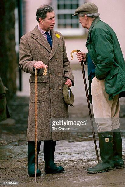 Prince Charles Chatting At Penbedw Farm, North Wales, Where He Attended A Private Lunch And Discussion With Local Farmers. The Prince Has A Daffodil...