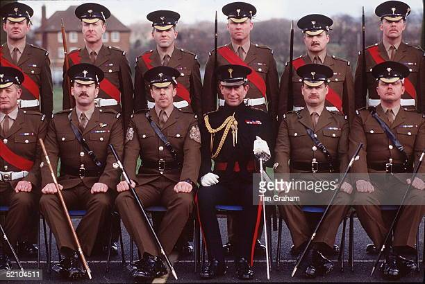 Prince Charles Colonel In Chief Of The Welsh Guards At Clive Hill Barracks Where He Has Presented Traditional Leeks To The 1st Battalion Welsh Guards...