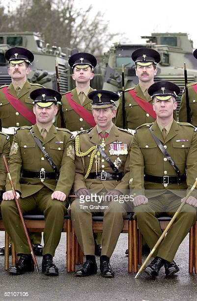 Prince Charles Colonel Of The Welsh Guards With Members Of The Battalion During His St David's Day Visit To Aldershot Hampshire