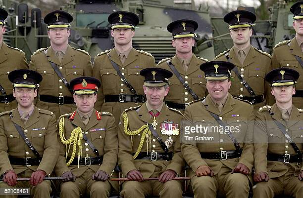 Prince Charles Colonel Of The Welsh Guards With Members Of The Battalion During His Visit On St David's Day In Aldershot Hampshire