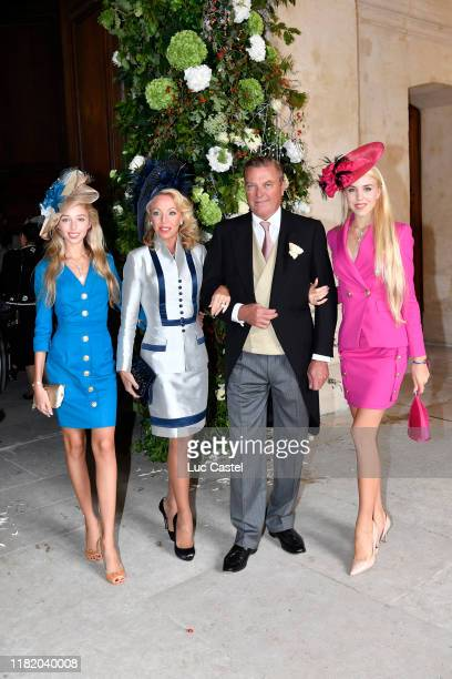 Prince Charles de Bourbon Siciles his wife Princess Camilla de Bourbon Siciles with their daughters Maria Carolina de Bourbon Siciles and Maria...