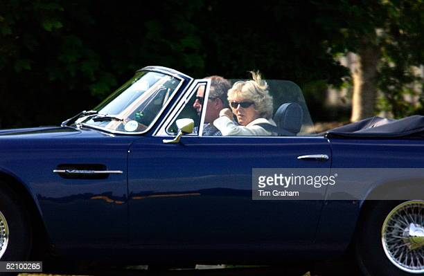 Prince Charles Driving Camilla Parkerbowles As They Leave The Cirencester Park Polo Club After A Charity Match Which Helped To Raise Funds For Her...