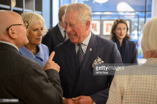Camilla Duchess of Rotheway during a visit to Mackintosh at The Willow Tea Rooms on September 7 2018 in Glasgow Scotland