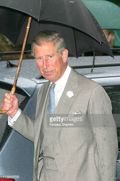 HRH Prince Charles during Tom Parker Bowles And Sara Buys Wedding at St Nicholas Church in Rotherfield Greys Great Britain