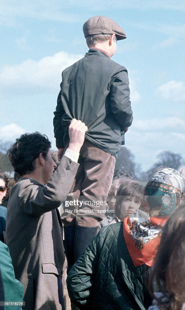 Prince Charles (left) holding onto his younger brother Prince Edward during the Badminton Horse Trials in Gloucestershire on 15th April 1972.