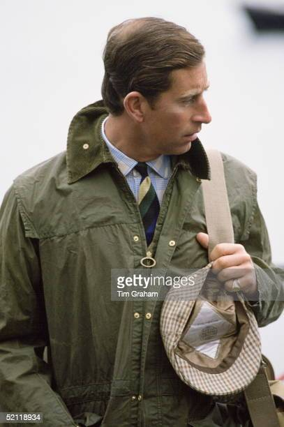 Prince Charles In Barbour Style Waxed Jacket And Tweed Cap On Holiday In Scotland