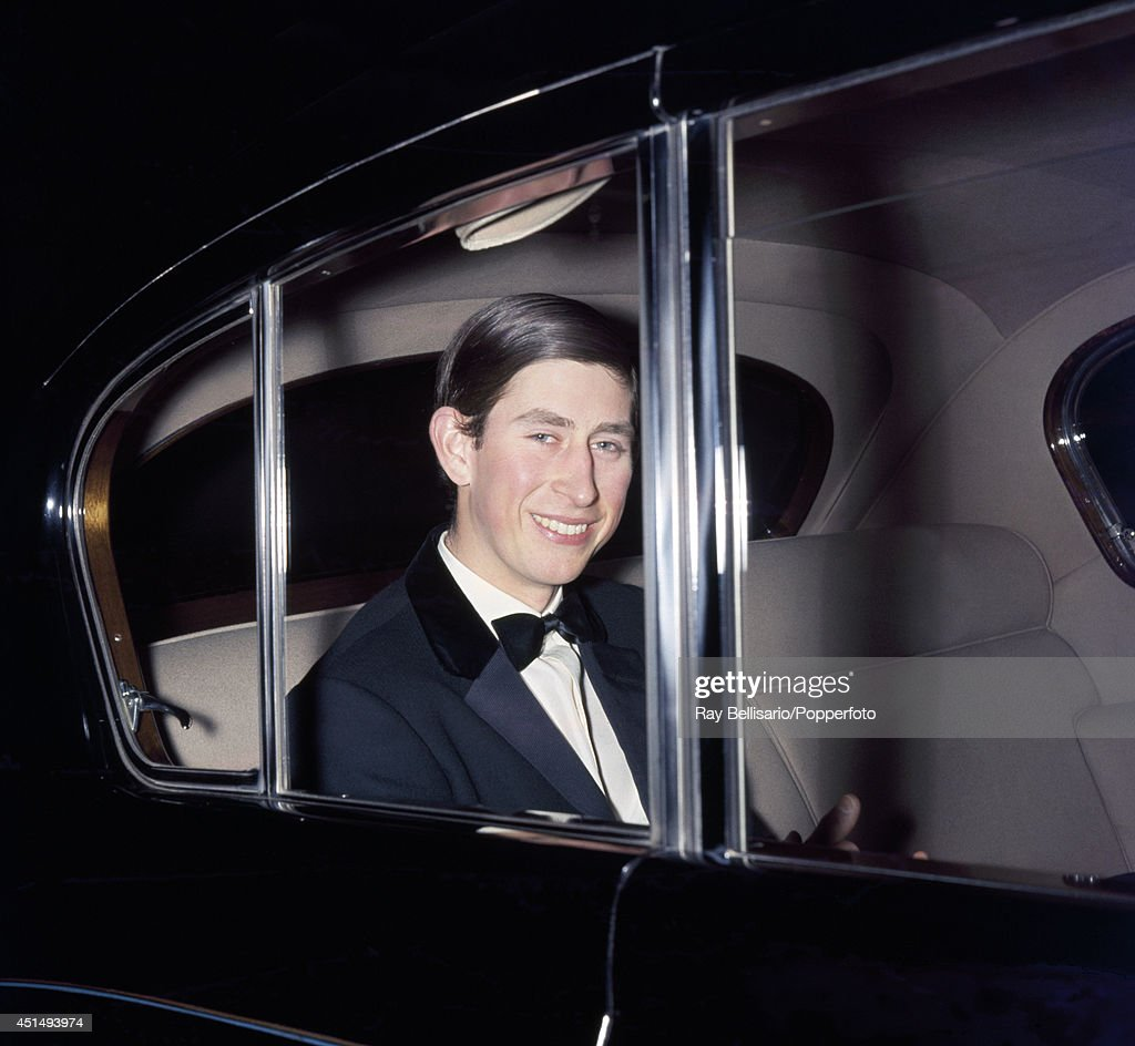 Prince Charles in black tie arrives for a concert at Festival Hall in London on 18th April 1969.